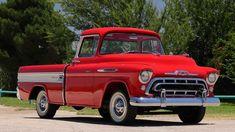 Classic Car Garage, Classic Cars, Old Trucks, Chevy Trucks, Import Cars, 1957 Chevrolet, Steel Wheels, Bugatti Veyron, Pick Up