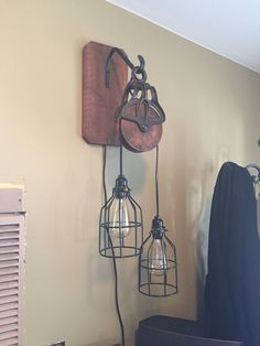 Barn pulley light by RusticRiks on Etsy