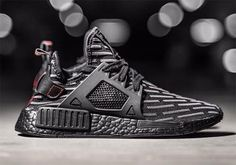 The adidas NMD XR1 Triple Black is headed to retailers featuring R2 Primeknit patterns throughout for a unique look. Release coming Spring 2017: