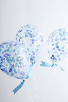 Blue Confetti Balloon Party Kit - Tiny balloons filled with Blue confetti! Perfect for a Little Boy Baby Shower or Blue Themed Party! by ThisLittleParty on Etsy
