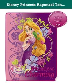 """Disney Princess Rapunzel Tangled Micro Raschel Blanket Throw """"PRINCESS Charming"""". A fun and colorful throw by The Northwest featuring your favorite entertainment character that's both plush and warm! Micro raschel fabric is known for its amazing softness and colors that stay vibrant even after repeated machine washing. These throws can be used out at a game, on a picnic, in the bedroom, or cuddled under in the den while watching the TV."""