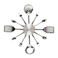 Present Time Utensils Wall Clock & Reviews   Wayfair
