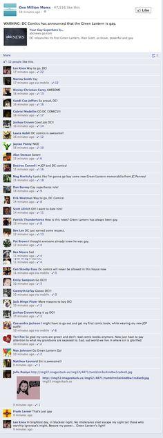 One Million Moms drops off Facebook after Green Lantern post backfires
