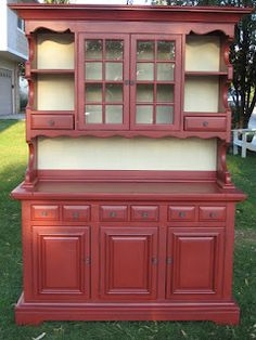 European Red Country Hutch Home Red Country Decorate Hutch Shelves Display  Cabinet | For My Home | Pinterest | Shelf Display, Display Cabinets And  Shelves
