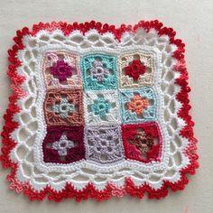 Small granny square doily
