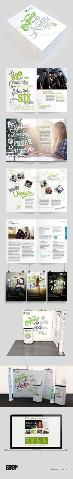 Newman University prospectus, artwork, Birmingham, university, identity, branding, design depot, prospectus, education, graphics, Northamptonshire #DesignDepot: