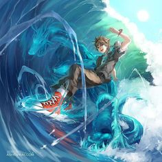 Percy Jackson fan art!!! I mean, I imagined him differently, but he looks great here!!!<<<<Anime Percy everybody