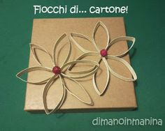 Decorazioni natalizie con rotolo carta igienica - DIY christmas decorations from a toilet paper roll