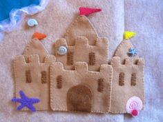Sandcastle Quiet Book - and other ideas for felt quiet books by dovecheryl