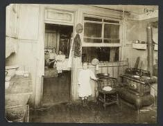 Little Girl Near Stove, Family in Next Room - Community Service Society Photographs Online Presentation, New York Life, Community Service, Stove, Little Girls, Photographs, Search, Room, Bedroom