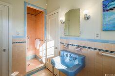 1935 original art deco bathroom. 50 San Rafael Way, San Francisco, CA 94127.