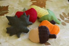 Handmade Harvest Themed Catnip filled Cat Toys by MissStitchinWitch, for Autumn and Thanksgiving Fun!