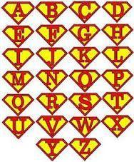 Resultado de imagen para superman logo alphabet