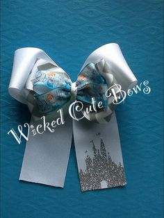 Layered Cinderella Hair Bow by WickedCuteBows on Etsy