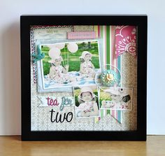 Blessed Scrapper: Webster's Pages: Tea for Two Shadowbox