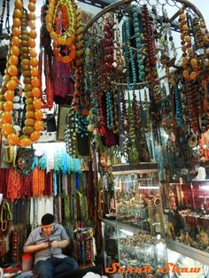 Where is the World's Largest Weekend Market? ( Afghani jewelry stall at Chatuchak Weekend Market) Bangkok Thailand.