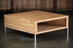 Oak Stonecut Coffee Table