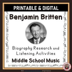 Your students are not merely finding words in the word search - they are also learning about BENJAMIN BRITTEN by researching what these words had to do with his life and music.►This resource is not your average word search! ►It has a research/written activity based on the words hidden in the word se... Learning Music, Music Education, Music Worksheets, Worksheets For Kids, Music Classroom, Classroom Resources, Middle School Music, Child Teaching, Music Activities