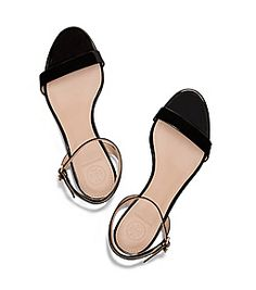 Black Tory Burch Elizabeth Mid-heel Sandal