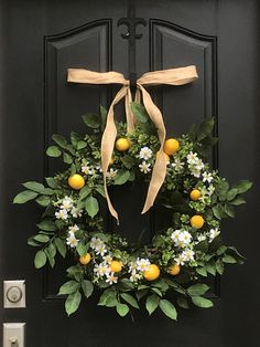 20cfcbb2da66 Brandi Raae  Farmhouse Lemon Decor Grapevine Wreath