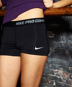 Nike Pro Combat compression shorts. Found a pair of these at Kohls for not nearly as much $! Love them and they stay where they are supposed to! :)