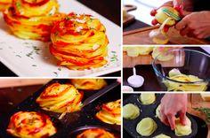 Les pommes de terre en mille-feuilles - La Recette