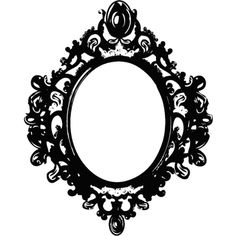 black_mirror_frame_by_berrykissed-d4lq82d.png ❤ liked on Polyvore featuring frame, gothic, borders and picture frame