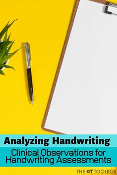 Use these handwriting analysis clinical observations to assess handwriting in kids. This is a great list for occupational therapists workion on handwriting with kids! Middle School Writing Prompts, First Grade Writing Prompts, Second Grade Writing, Creative Writing Prompts, Pre Writing, Writing Process, Handwriting Without Tears, Cursive Handwriting, Handwriting Practice
