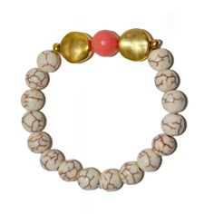 Cabo Sunset Beaded Bracelet in White from Total Betty Society
