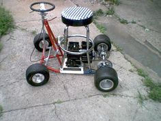 This Custom Built Barstool Racer Is Used To Get Around The