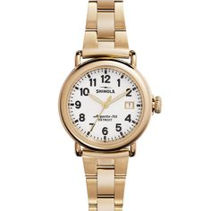 The Runwell by Shinola is a hand-assembled timepiece made from the finest components available in the world. Features of the Runwell include a sapphire crystal, solid stainless steel case with screw d #WomenWatches