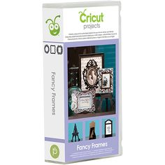 Create beautiful frames with this Cricut 'Fancy Frames' Cartridge that features an assortment of classic, elegant, and eye-catching frames. The kit includes one cartridge, handbook and a keypad overlay.