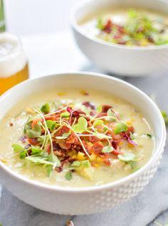 White Bean, Chicken and Corn Chowder