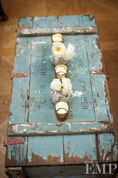 Wood Storage Trunk Coffee Table - Ideas on Foter Painted Furniture, Diy Furniture, Painted Trunk, Deco Boheme Chic, Vibeke Design, Vintage Trunks, Vintage Chest, Patio Makeover, Wood Storage