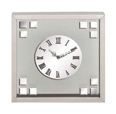 Unique Square Shaped Stainless Steel Glass Decorative Wall Clock