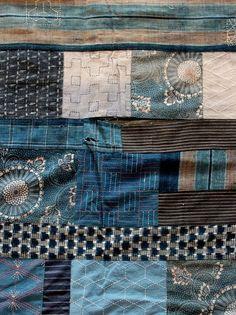 pearl-nautilus: Japanese Sashiko quilt c 1970's source: