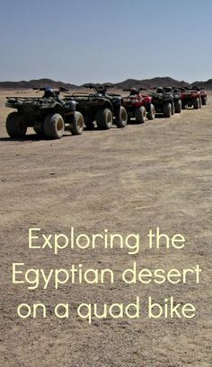 Most people go to Hurghada, Egypt for the sunny beach and the Red Sea. I went there to go quad biking in the desert. Click to read more or pin and save for later.