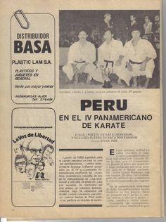 Revista Karate Internacional, que dirigian Lito Avendaño y Rafael Crisostomo.