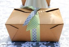 Tips and information on how to host a box lunch bridal shower in your home.