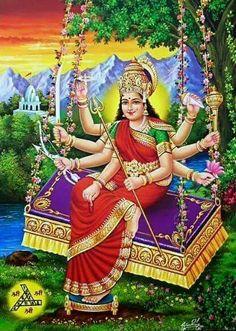 Durga, the Warrior Goddess, symbolizes power and the triumph of good over evil in Hindu mythology. Shiva Parvati Images, Durga Images, Shiva Shakti, Lakshmi Images, Maa Durga Photo, Maa Durga Image, Indian Goddess, Goddess Lakshmi, Om Namah Shivaya