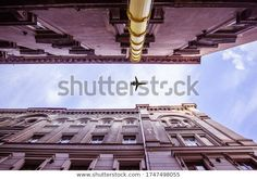 Beautiful Damaged Old European City Facade Stock Photo (Edit Now) 1747498055