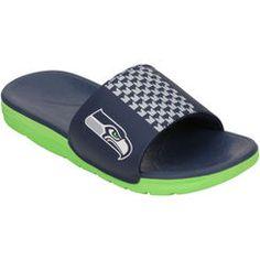 d11ad016f6de Men s Nike Seattle Seahawks Benassi Solarsoft 2 Slides Nfl Seattle
