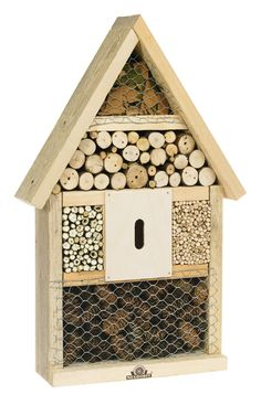 A House for Insects by Neudorff: Many insects are indispensable partners for organic gardeneing and are threatened by the massive use of pesticides and insecticides. This 'House' is specifically designed for nesting and hibernating insects and encourages crop pollination in the garden where it is installed. #Organic_Gardening #Insect_House