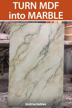 With paint you can transform a piece of MDF into an expensive-looking piece of marble. With paint you can transform a piece of MDF into an expensive-looking piece of marble. Marble Effect Paint, Marble Painting, Faux Painting, Diy Painting, Painting Mdf Board, Painting Furniture, Diy Kit, Marble Case, Paint Effects