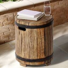 Beautiful Modena Side Table by Ove Decors Patio Garden Furniture from top store Wooden Table Top, Metal Side Table, Solid Wood Dining Table, Outdoor Side Table, Patio Tables, Patio Furniture Sets, Outdoor Furniture, Garden Furniture, Decorating Coffee Tables
