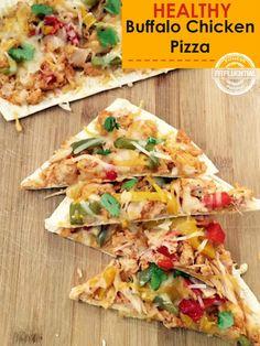 healthy buffalo chicken pizza