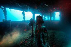 Shipwreck off Micronesia