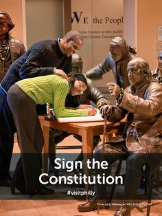 Philly Bucket List Tip: Sign the Constitution at Signers' Hall in the National Constitution Center. #visitphilly