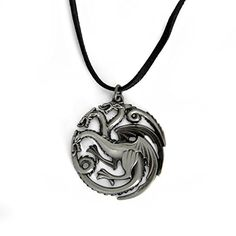 Game of Thrones - Wappen Halskette - House Targaryen - Fire & Blood - Spielzeugtester. Game Of Thrones, Washer Necklace, Pendant Necklace, Blood, Fire, Gifts, Channel, Jewelry, Dragon
