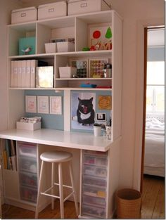 I need to find room in my house to do this.  Perfect craft storage/desk